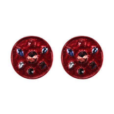 Alloy Fashion Geometric earring  (red) NHJQ10713-red's discount tags