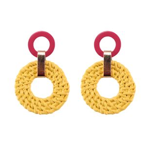 Alloy Fashion Geometric earring  (yellow) NHJQ10719-yellow's discount tags