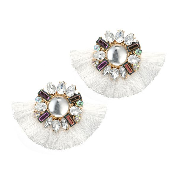 Alloy Fashion Tassel earring  (white) NHGY2460-white