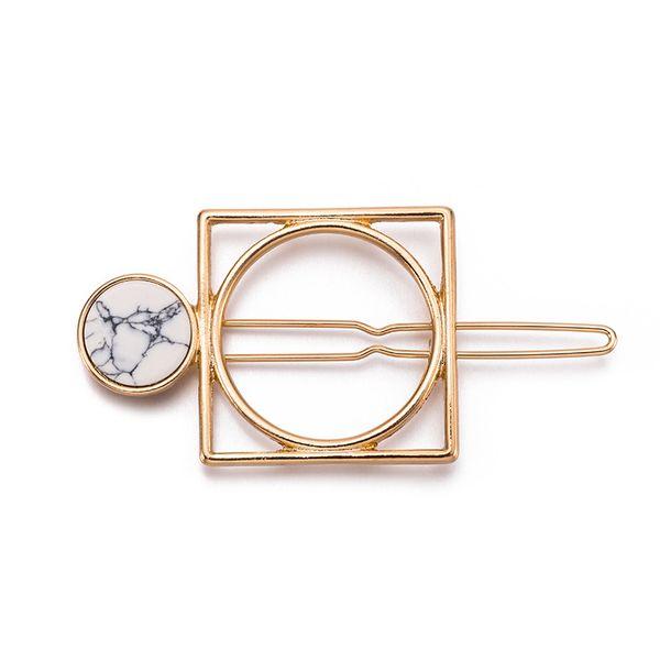 Alloy Simple Geometric Hair accessories  (H6 Alloy White Stone) NHHN0309-H6-Alloy-White-Stone