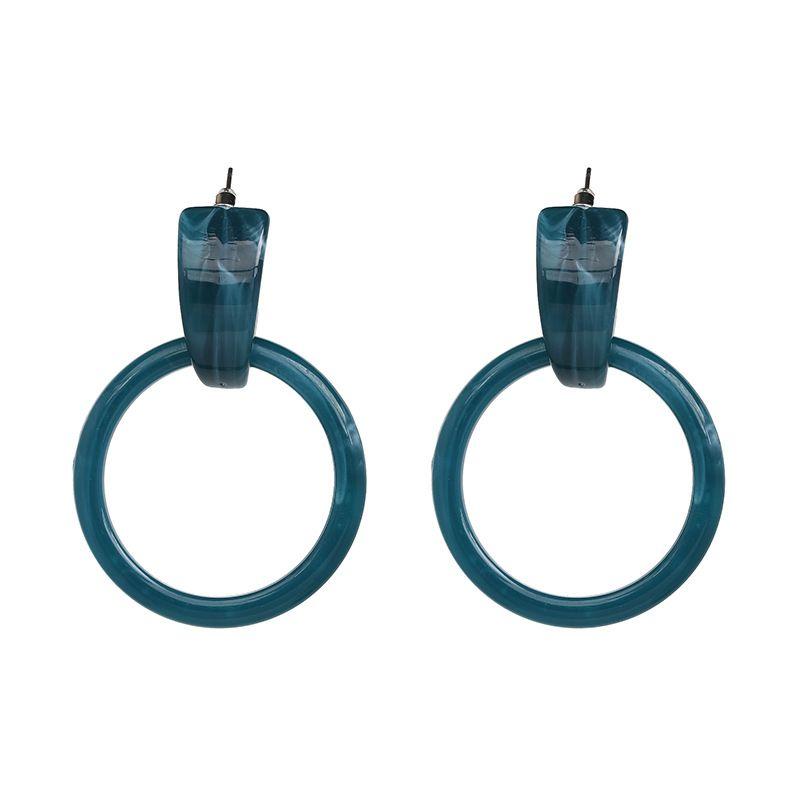 Plastic Fashion Geometric earring  (Ink-blue colour) NHJJ5131-Ink-blue-colour