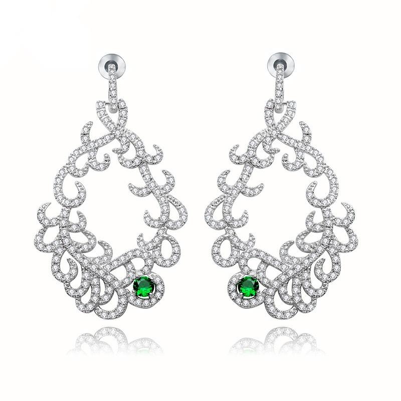 Alloy Fashion Geometric earring  (white) NHTM0407-white