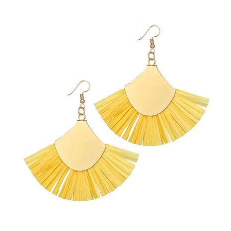 Alloy Vintage Tassel earring  (yellow) NHGY2487-yellow's discount tags