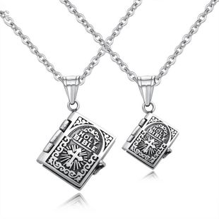 Titanium&Stainless Steel Fashion Geometric necklace  (Large men + matching chain) NHOP2982-Large-men-matching-chain's discount tags