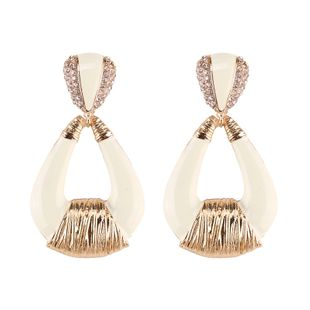 Alloy Fashion Geometric earring  (white) NHJQ10723-white's discount tags