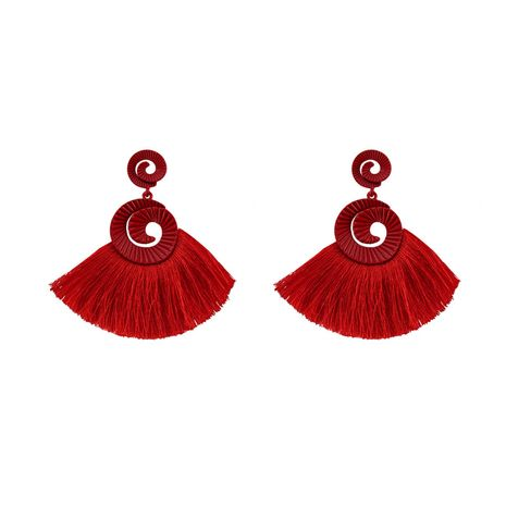 Alloy Fashion Tassel earring  (red) NHJQ10736-red's discount tags