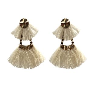 Alloy Fashion Tassel earring  (white) NHJQ10739-white's discount tags