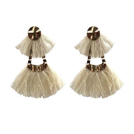 Alloy Fashion Tassel earring  (white) NHJQ10739-white's discount tags