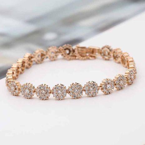 Copper Fashion Flowers bracelet  (Rose alloy) NHLJ4102-Rose-alloy's discount tags