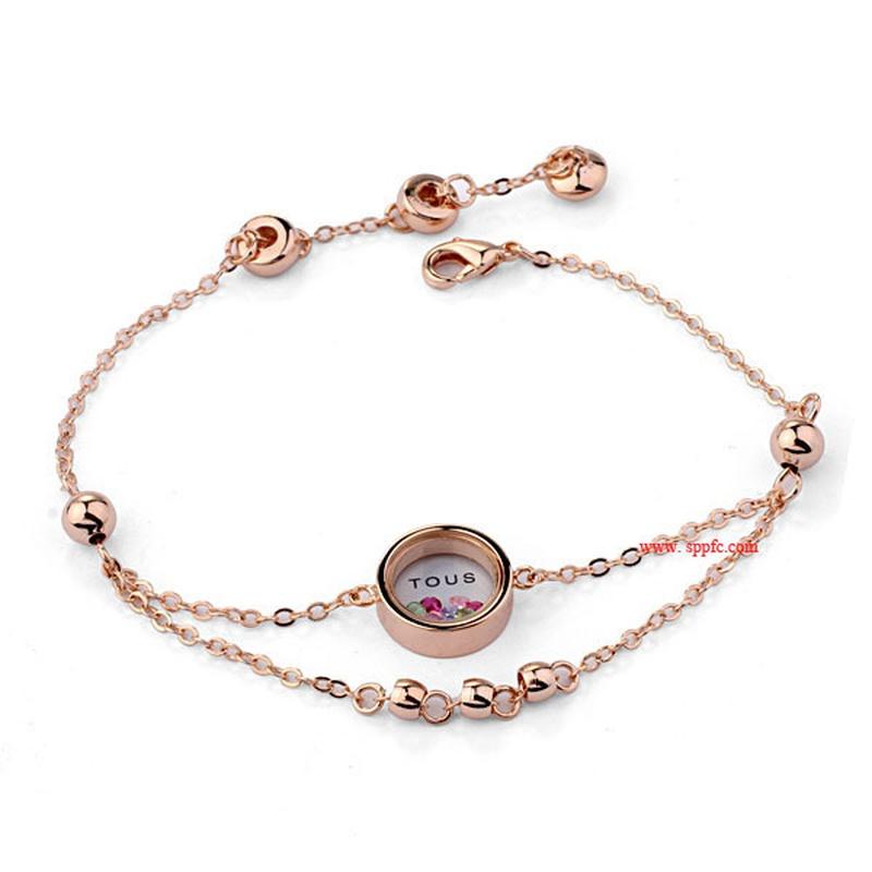 Alloy Korea Geometric bracelet  (Rose alloy) NHLJ4104-Rose-alloy