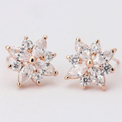 Alloy Korea Flowers earring  (Rose alloy) NHLJ4111-Rose-alloy's discount tags