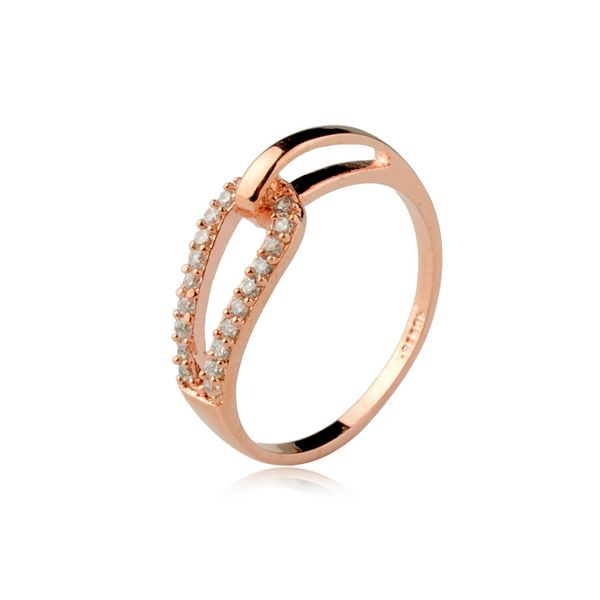 Alloy Korea Geometric Ring  (Rose alloy-16mm) NHLJ4113-Rose-alloy-16mm