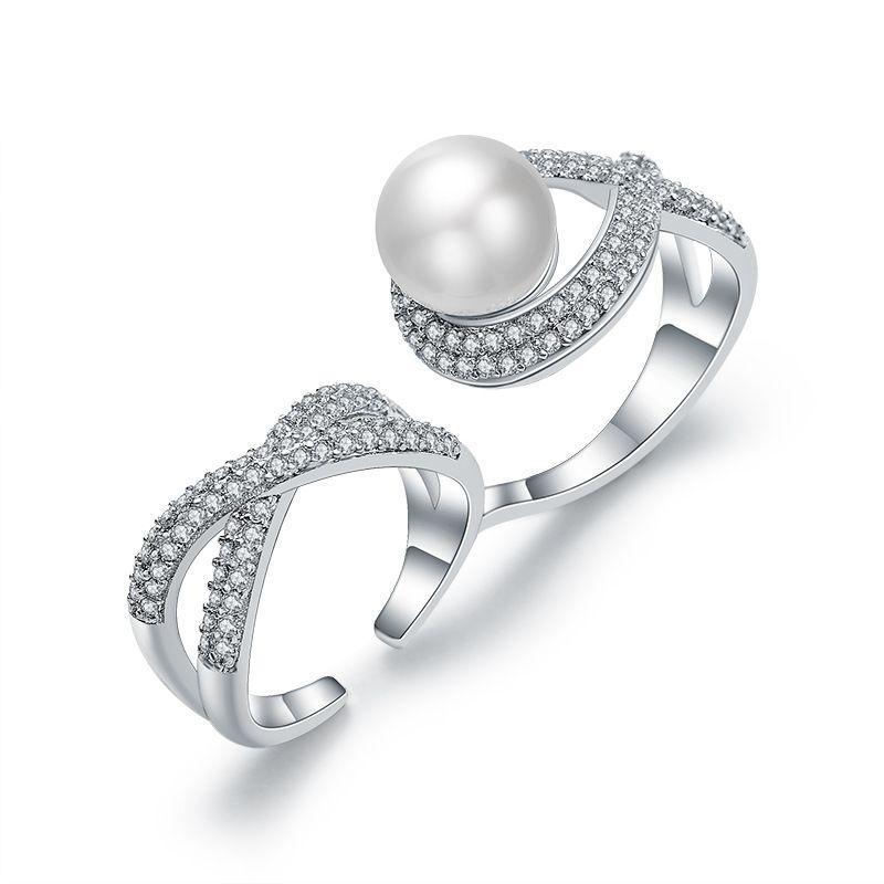 Copper Fashion Geometric Ring  (Alloy) NHLJ4114-Alloy