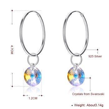 Platinum Plated  Hoop Earrings NHKL13324-C's discount tags