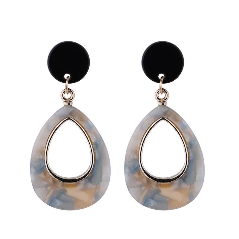 Korean temperament cold wind drop earrings (rice white) NHNPS4709