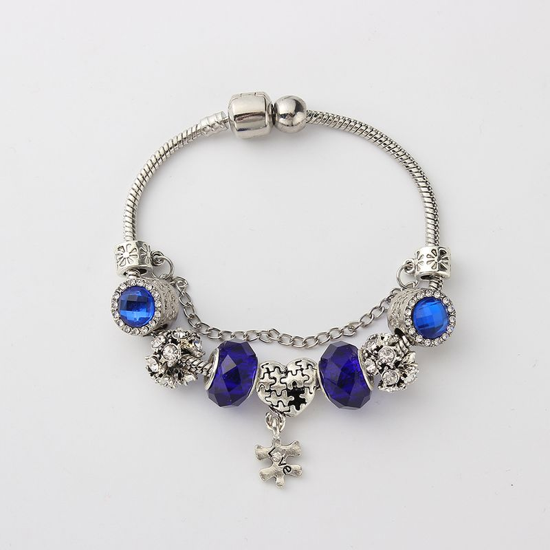 European and American fashion personality creative love bracelet (blue) NHNPS4799