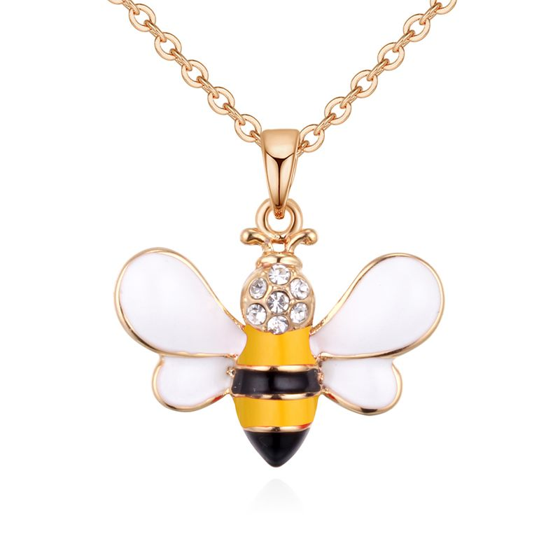 Korean version of the simple wild cute bee necklace (yellow) NHNPS4877