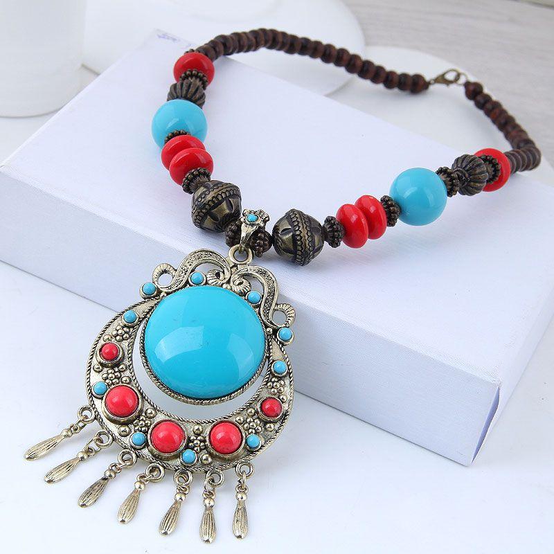 Alloy Fashion necklace NHNSC12921