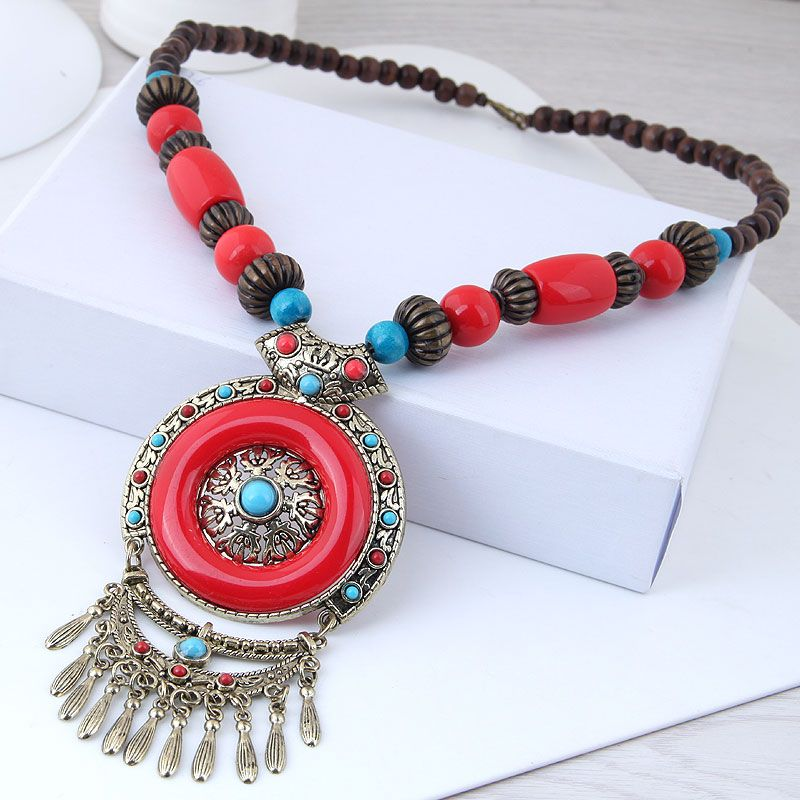 Alloy Fashion necklace NHNSC12922
