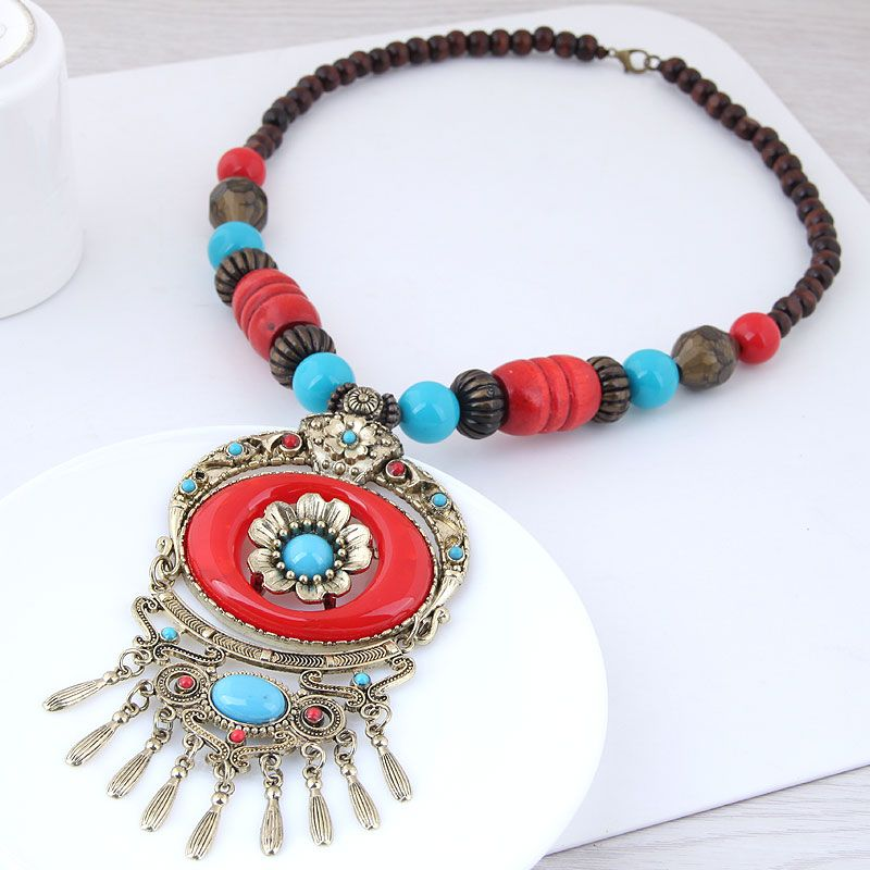 Alloy Fashion necklace NHNSC12923