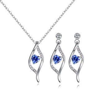Austrian Imitated crystal Set - Heart Fascination (Blue) NHKSE28902