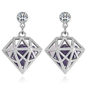 Alloy EarringsDream Lock Jade Platinum + Tanzanite NHKSE28892