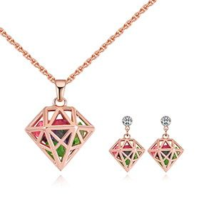 Plated alloy set - dream lock jade (rose alloy + color) NHKSE28888