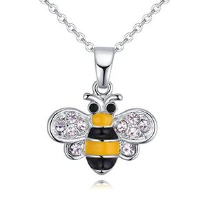 Alloy Necklace -- Butterfly Love Bee (Black) NHKSE28838