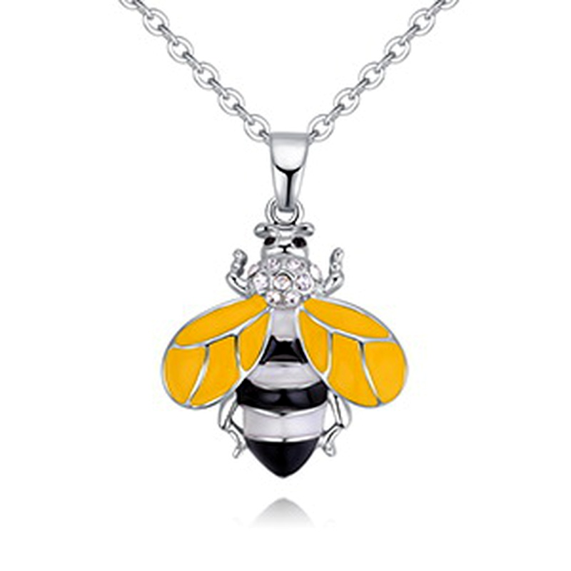 Plated alloy necklace  Little Bee C yellow NHKSE28834