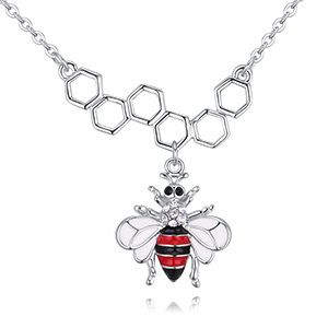 Plated alloy necklace  bee fan love A section red NHKSE28826