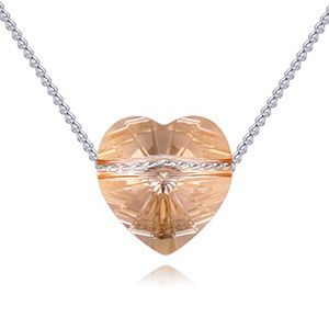 Austrian Imitated crystal Necklace - Love Journey (Alloy Phantom) NHKSE28798