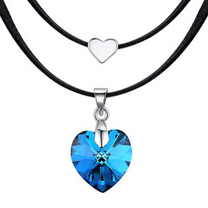 Austrian Imitated crystal Necklace--Blue Heart Sharp Moon (Blu-ray) NHKSE28770
