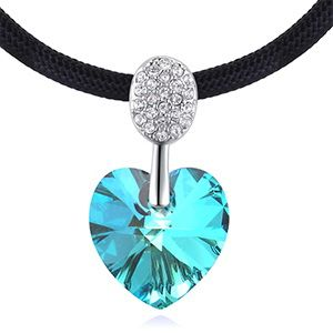 Austrian Imitated crystal Necklace  Eternal Love Ceremony Sea Blue NHKSE28756