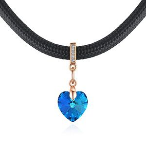 Austrian Imitated crystal Necklace - Heart of True Love (Champagne Alloy + Blu-ray) NHKSE28734