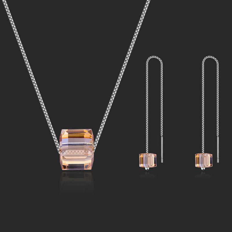 Austrian Imitated crystal Set  Love Sugar Cube Alloy Phantom NHKSE28952