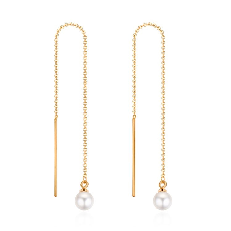 Plated alloy beads long earrings champagne alloy NHKSE28934