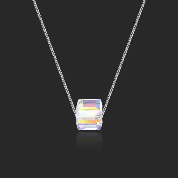 Austrian Imitated crystal Necklace - Love Sugar Cube (Color) NHKSE28908