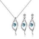 Austrian Imitated crystal Set  Heart Fascination Blue NHKSE28902