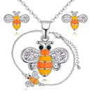 Plated alloy necklace  butterfly love bee black NHKSE28840