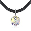 Austrian Imitated crystal NecklaceZhuyuan Yujie Champagne Alloy + Color White NHKSE28820