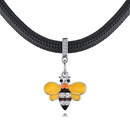 Alloy Necklace  Small Bee B Yellow NHKSE28816