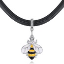 Plated alloy necklace  Little Bee C yellow NHKSE28814