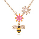 Alloy NecklaceBee Love Flower Champagne Alloy NHKSE28803