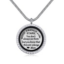 Plated alloy necklace  sweet special GOOD FRIENDS NHKSE28788