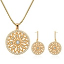 AAA microinlaid zircon set  hollow disc champagne alloy NHKSE28911