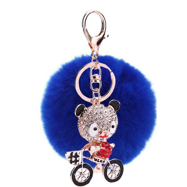 Alloy Fashion Geometric key chain  (Blue - red bear) NHMM2210-Blue - red bear