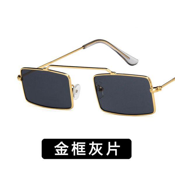 Alloy Vintage  glasses  (Alloy frame gray piece) NHKD0402-Alloy-frame-gray-piece