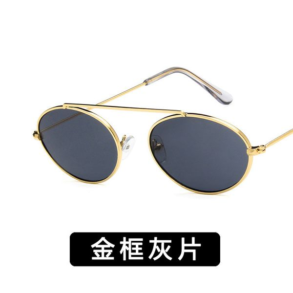Alloy Vintage  glasses  (Alloy frame gray piece) NHKD0409-Alloy-frame-gray-piece
