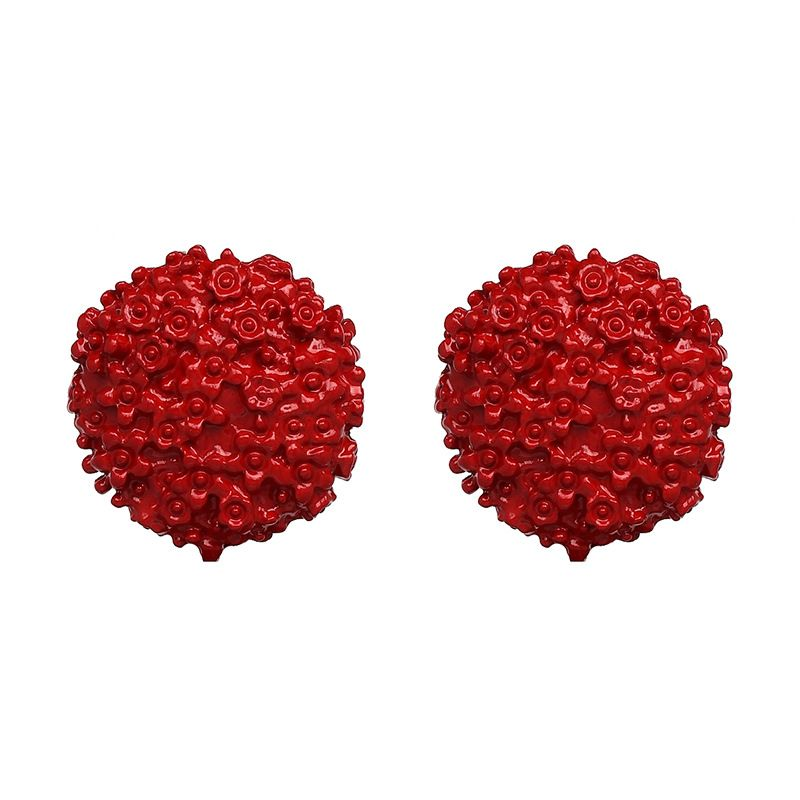 Alloy Simple Geometric earring  (red) NHJJ5067-red