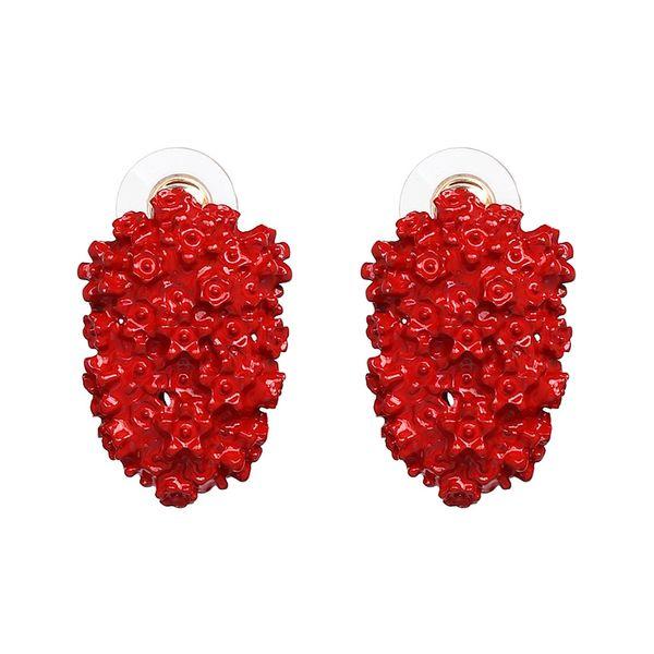 Alloy Fashion Geometric earring  (red) NHJJ5068-red